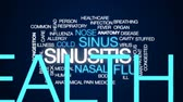 alergia : Sinusitis animated word cloud, text design animation.