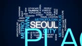 metro : Seoul animated word cloud, text design animation.