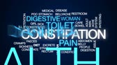 the digestion : Constipation animated word cloud, text design animation.