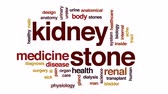 blood supply : Kidney stone animated word cloud, text design animation. Stock Footage