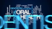 caries : Oral health animated word cloud, text design animation.