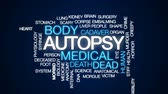 liver : Autopsy animated word cloud, text design animation. Stock Footage