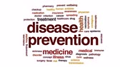 nakažlivý : Disease prevention animated word cloud, text design animation.