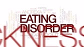 suçluluk : Eating disorder animated word cloud, text design animation.