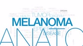 sensorial : Melanoma animated word cloud, text design animation.