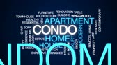 переделывать : Condo animated word cloud, text design animation.