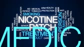 plaster : Nicotine patch animated word cloud, text design animation.