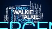 передатчик : Walkie talkie animated word cloud, text design animation.