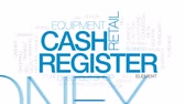 registrar : Cash register animated word cloud, text design animation. Kinetic typography. Vídeos