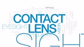 optometria : Contact lens animated word cloud, text design animation. Kinetic typography. Wideo