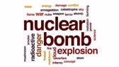 meltdown : Nuclear bomb animated word cloud, text design animation.