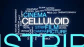 old film : Celluloid animated word cloud, text design animation.