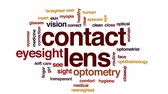 optometria : Contact lens animated word cloud, text design animation. Wideo
