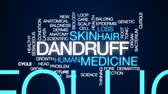 growth hormone : Dandruff animated word cloud, text design animation.