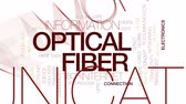 sinal : Optical fiber animated word cloud, text design animation. Kinetic typography.