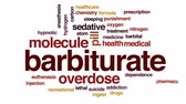 hidrojen : Barbiturate animated word cloud, text design animation.