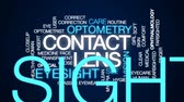 rotina : Contact lens animated word cloud, text design animation. Vídeos