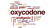 hidrogênio : Oxycodone animated word cloud, text design animation.