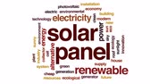 coletor : Solar panel animated word cloud, text design animation.