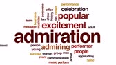 admiração : Admiration animated word cloud, text design animation. Vídeos