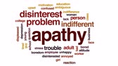apathy : Apathy animated word cloud, text design animation.