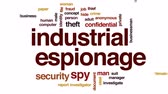 roubar : Industrial espionage animated word cloud, text design animation. Vídeos
