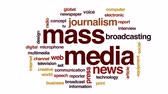 mikrofon : Mass media animated word cloud, text design animation. Wideo