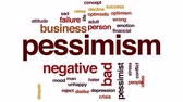 otimismo : Pessimism animated word cloud, text design animation.