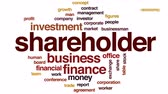 investidor : Shareholder animated word cloud, text design animation. Vídeos