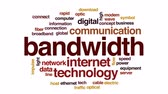 broadband : Bandwidth animated word cloud, text design animation. Stock Footage
