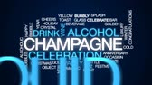 saúde : Champagne animated word cloud, text design animation.