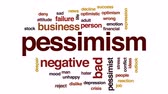 errado : Pessimism animated word cloud, text design animation.