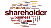 investor : Shareholder animated word cloud, text design animation. Stock Footage