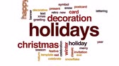 bez szwu : Holidays animated word cloud, text design animation.