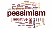 отвергать : Pessimism animated word cloud, text design animation.