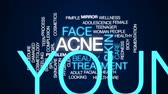 arcszín : Acne animated word cloud, text design animation. Stock mozgókép