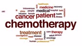 łysy : Chemotherapy animated word cloud, text design animation.
