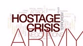 swat : Hostage crisis animated word cloud, text design animation. Kinetic typography. Stock Footage