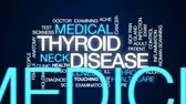 thyroid : Thyroid disease animated word cloud, text design animation. Stock Footage