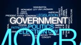 democrático : Government computing animated word cloud, text design animation. Vídeos