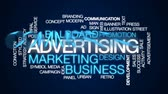 conviction : Advertising animated word cloud, text design animation. Stock Footage