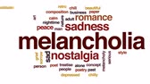 melankoli : Melancholia animated word cloud, text design animation.