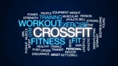 ginasta : Crossfit animated word cloud, text design animation.