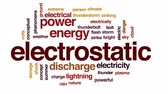 плазма : Electrostatic animated word cloud, text design animation.