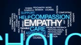 psychiatry : Empathy animated word cloud, text design animation. Stock Footage