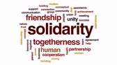 dayanışma : Solidarity animated word cloud, text design animation.