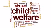 bem estar : Child welfare animated word cloud, text design animation.