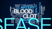 cholesterol plaque : Blood clot animated word cloud, text design animation. Stock Footage