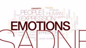 wŚciekŁy : Emotions animated word cloud, text design animation. Kinetic typography. Wideo