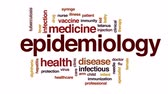 imunizace : Epidemiology animated word cloud, text design animation.